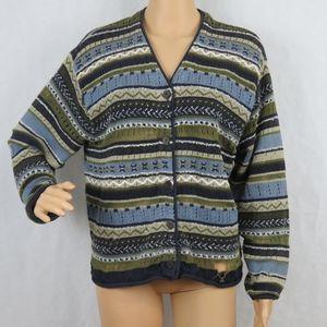 Marsh Landing Women Medium Cardigan Sweater Blue